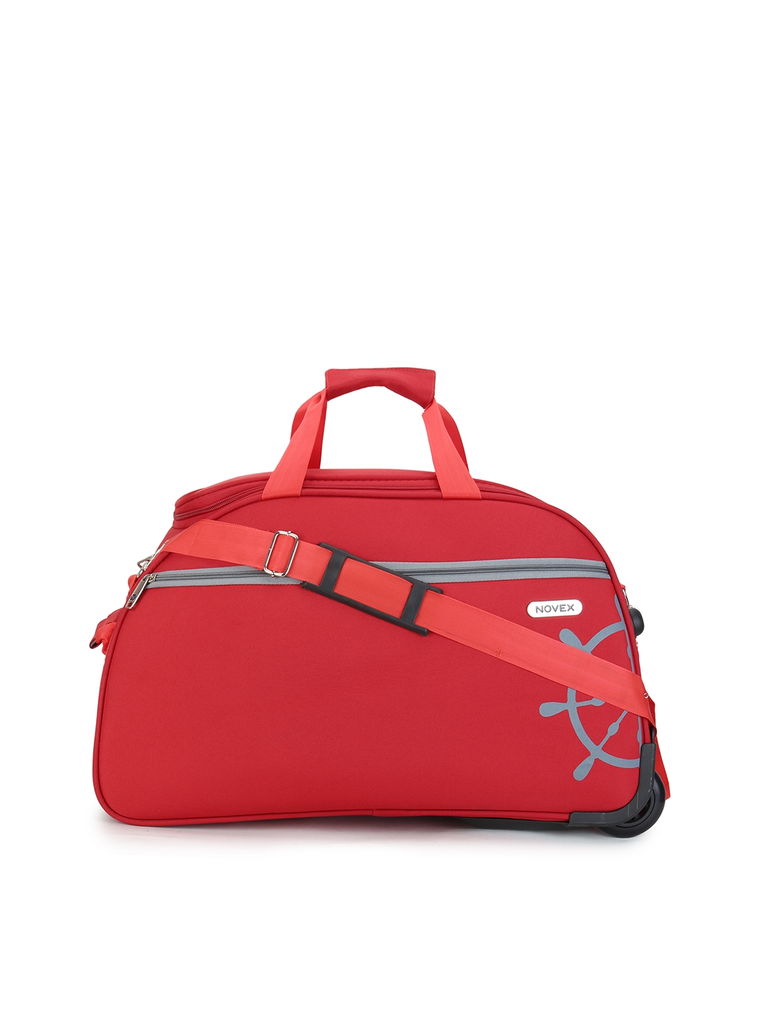 NOVEX Unisex Red Solid Travel Duffle Bag