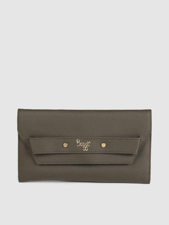 Baggit Women Brown Solid CLEATY LAVA Three Fold Wallet