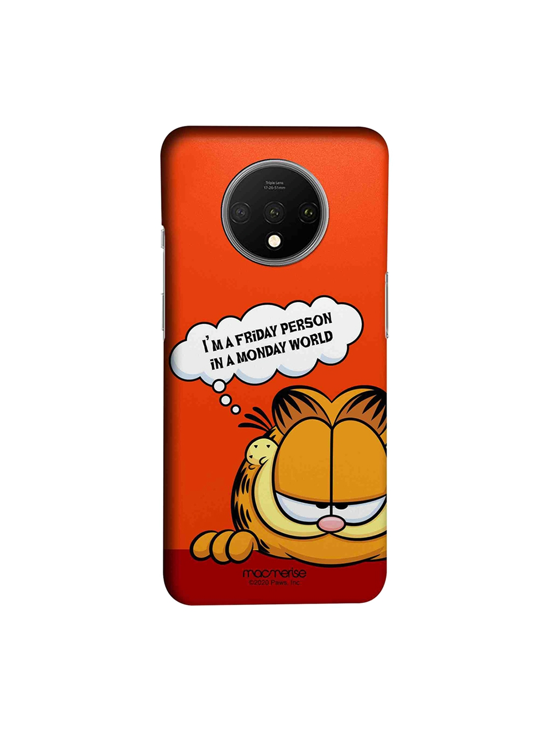macmerise Multicolored OnePlus 7T Garfield Back Cover