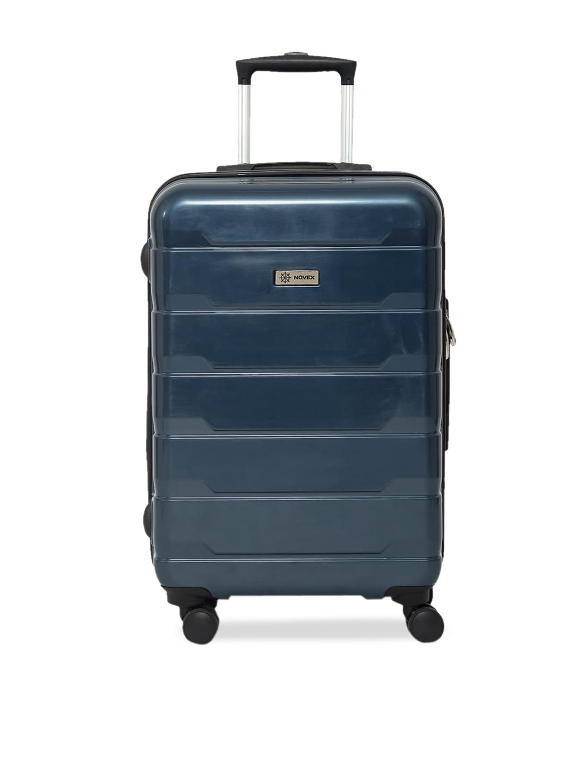NOVEX Unisex Blue Solid Hard Luggage Cabin Trolley Bag