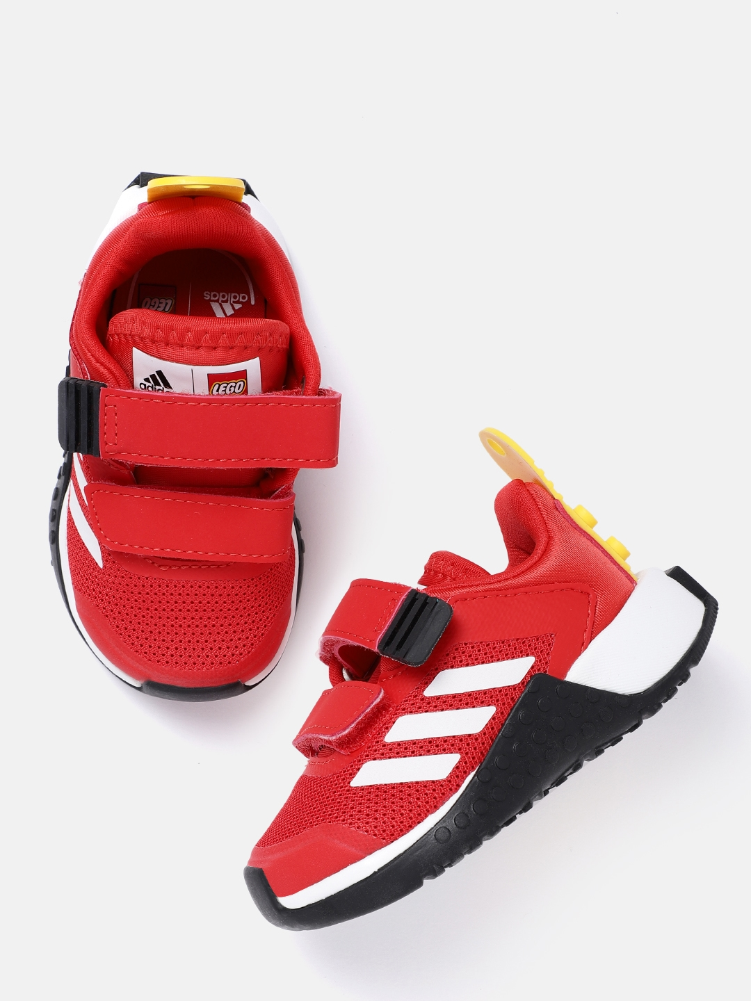 ADIDAS Kids Red Sustainable Primegreen Lego Sport CF I Woven Design Running Shoes