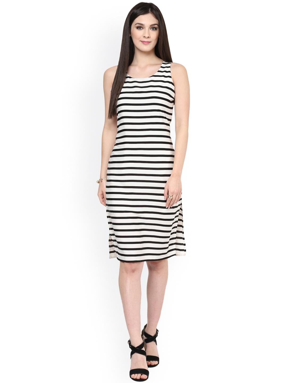 Buy Zima Leto Black   White Striped Sheath Dress - Dresses for Women ... 5ce85e1f0