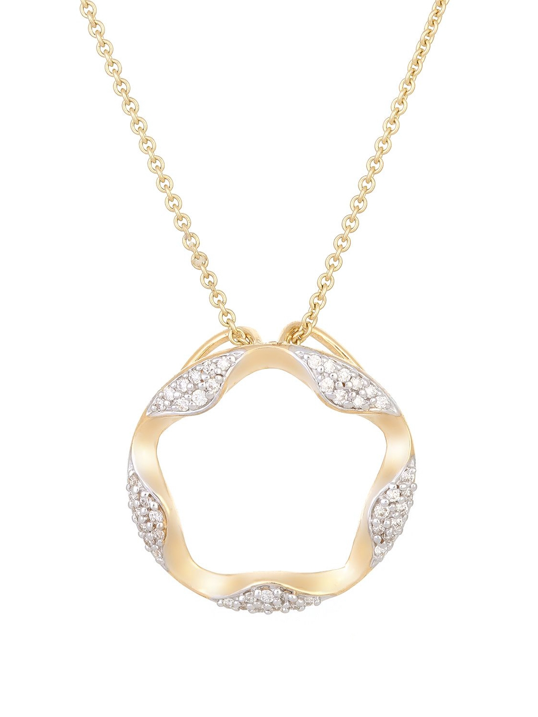 Mia by Tanishq 2.02 g 14KT Gold Precious Pendant with Diamonds Mia by Tanishq Pendant Diamond