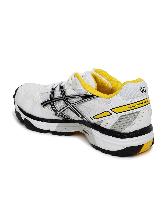 cfb7f7669852b8 Buy ASICS Men White Gel Hardwicket 5 Cricket Shoes - Sports Shoes ...
