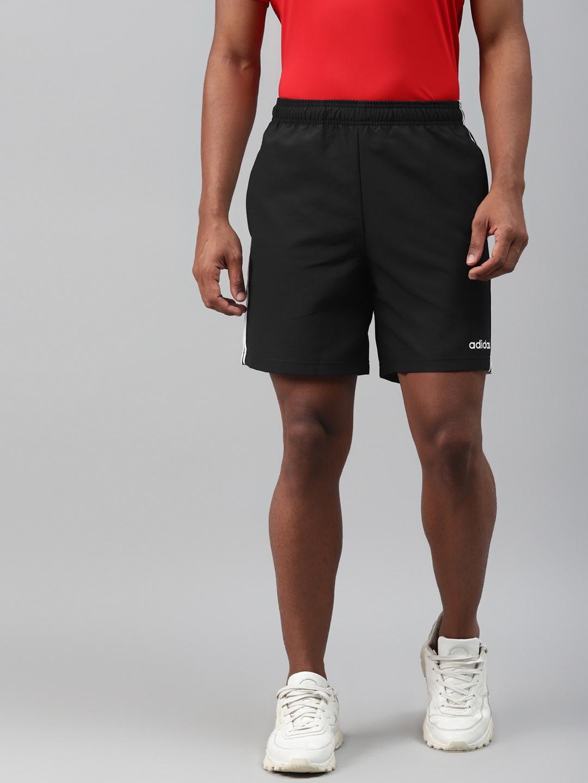 ADIDAS Men Black Solid 3S Chelsea Sports Shorts