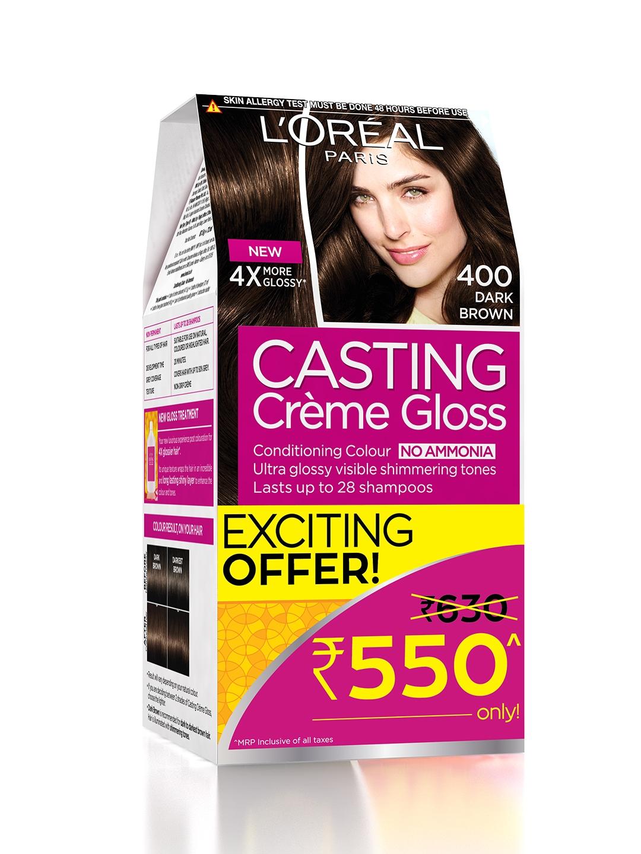 Buy Loreal Paris Dark Brown Casting Creme Gloss Hair Colour 400