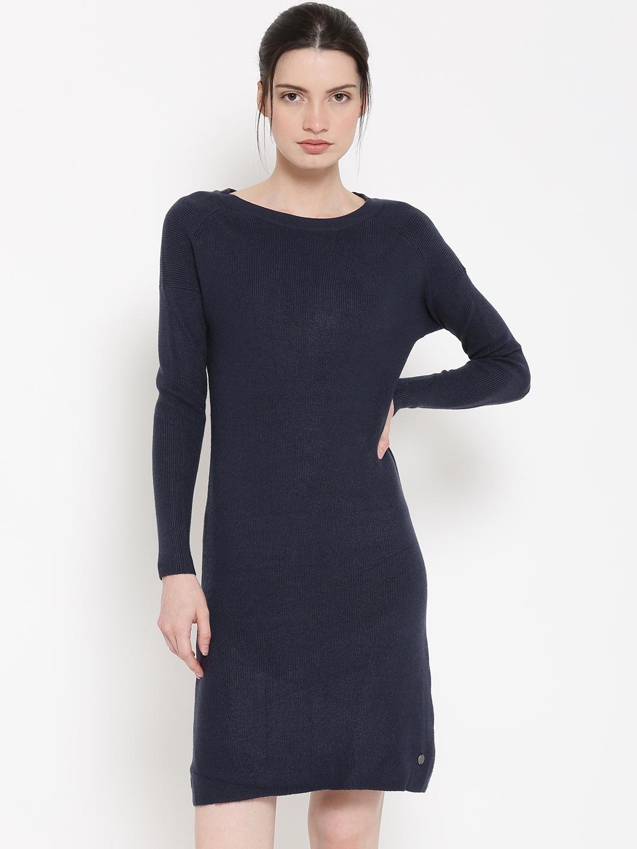 c578bcd3be58 Buy Mast   Harbour Women Navy Blue Sweater Dress - Dresses for Women ...