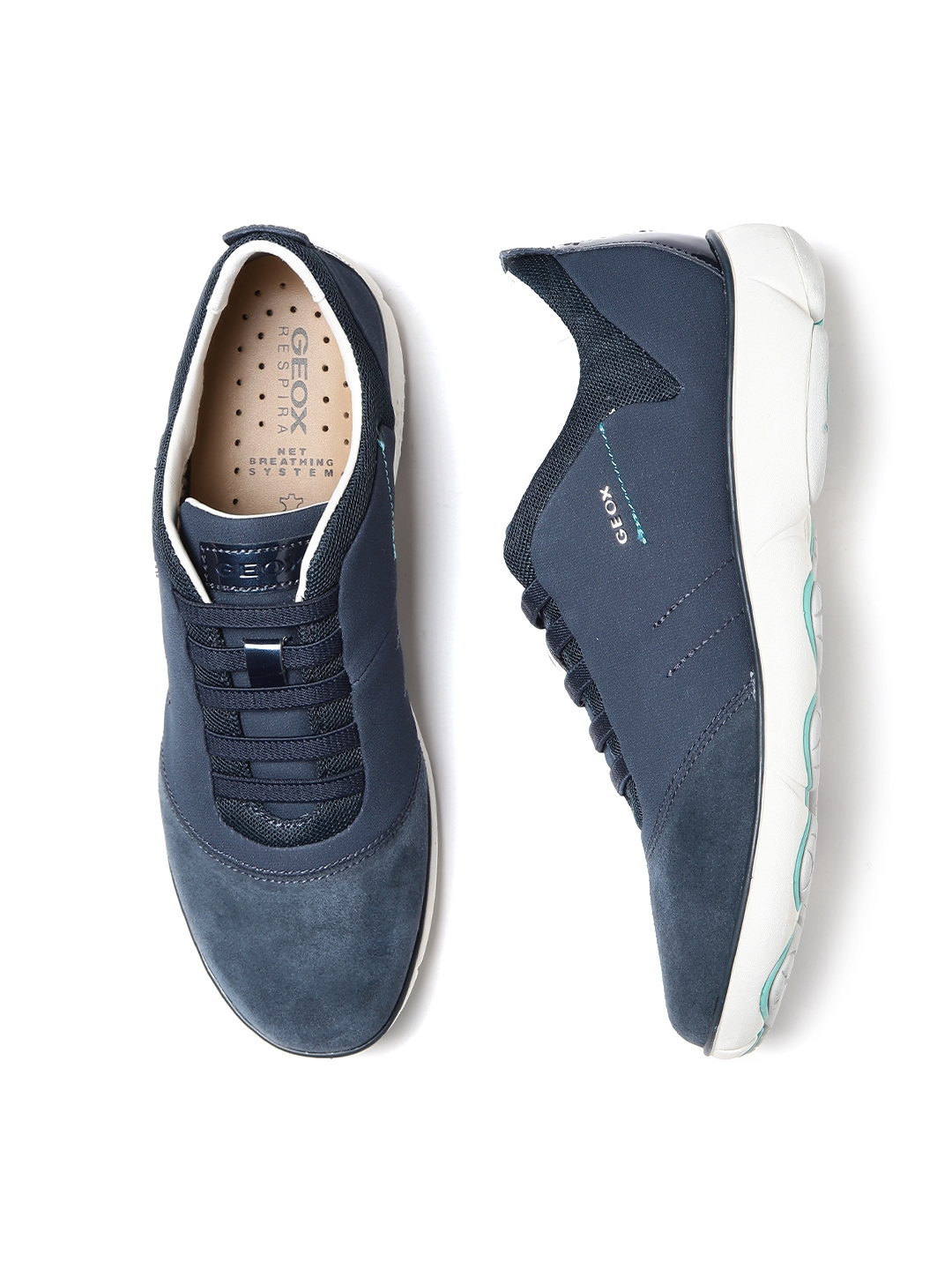 06034a2343 GEOX Nebula Respira Women Navy Breathable Italian Patent Leather Casual  Shoes