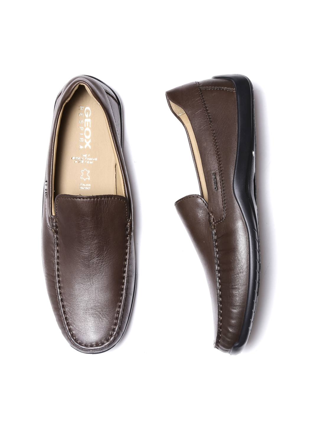 7322ac268cded Buy GEOX Respira Men Coffee Brown Breathable Italian Patent Leather Loafers  - Casual Shoes for Men 1358118 | Myntra
