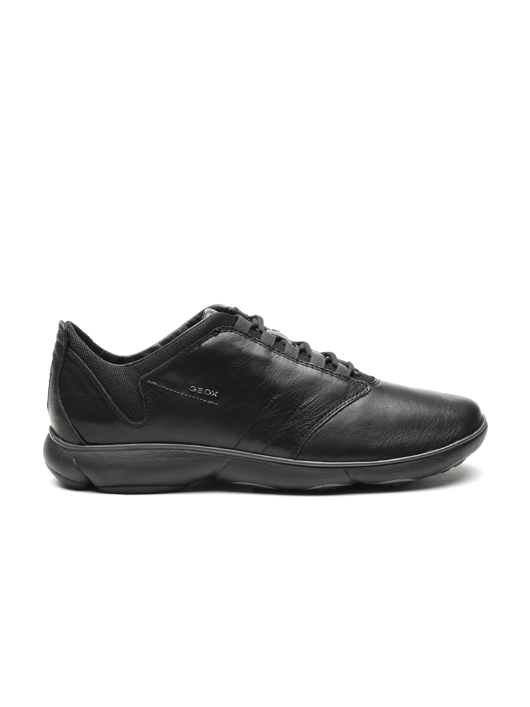 5386f010dde GEOX Nebula Respira Men Black Breathable Italian Patent Leather Slip-On  Sneakers