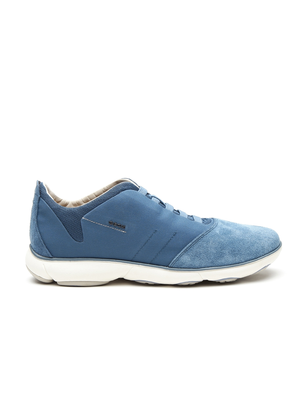 ea340924f9 GEOX Nebula Respira Men Teal Blue Breathable Italian Patent Leather Sneakers