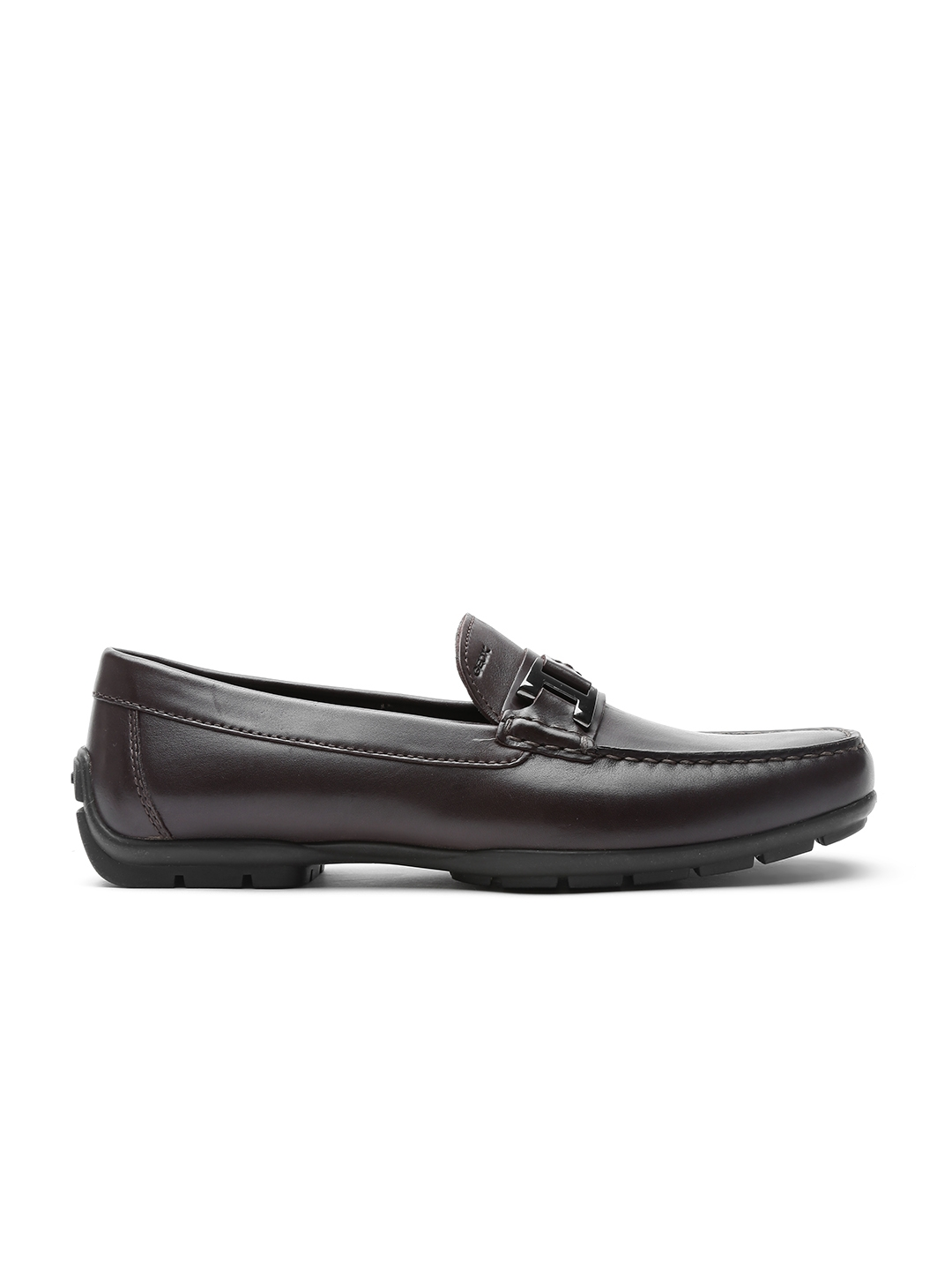 c98bd39bf2 GEOX Respira Men Dark Brown Breathable Italian Patent Leather Loafers