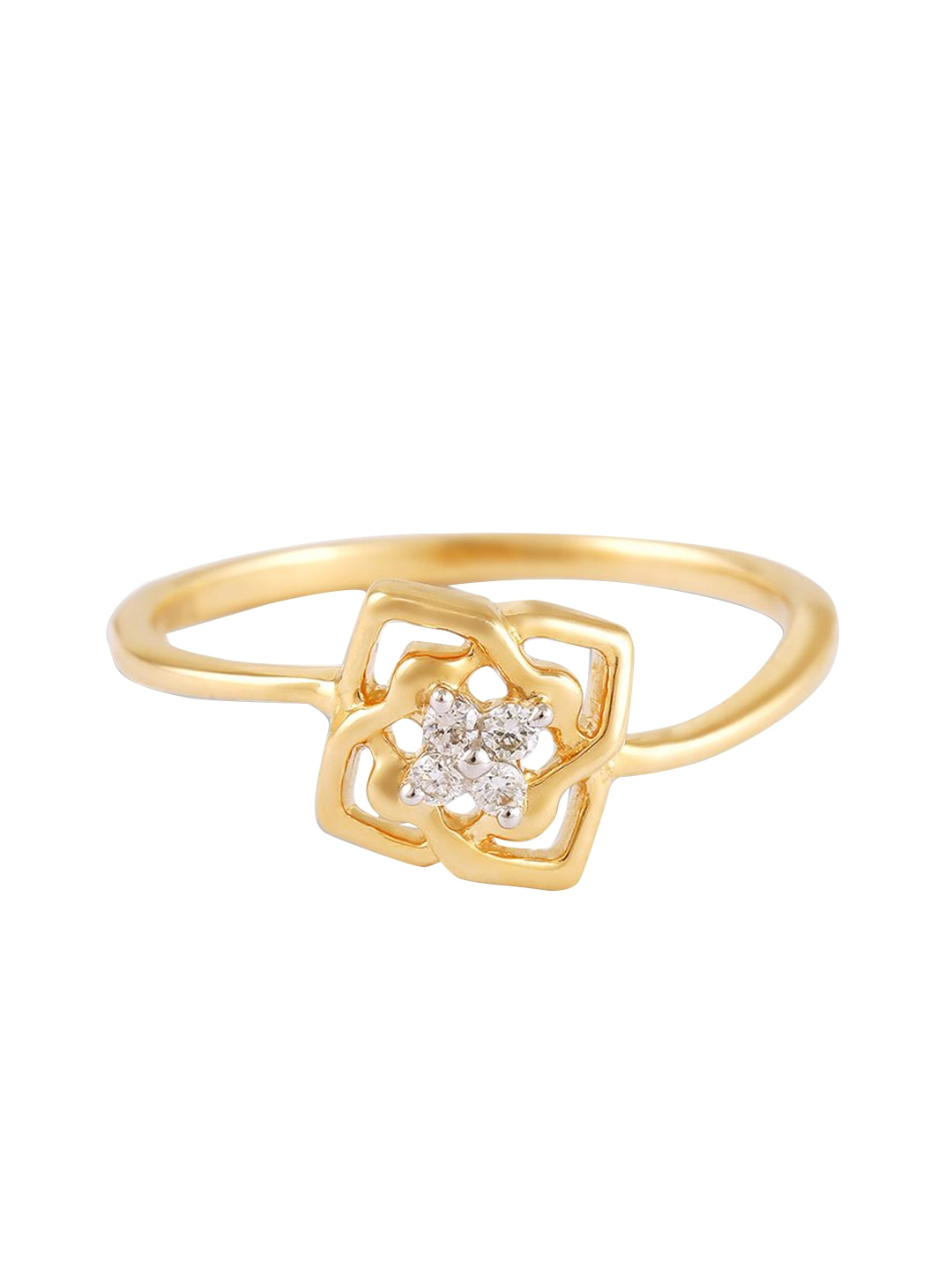 Mia by Tanishq 14KT Yellow Gold Precious Ring with Diamonds