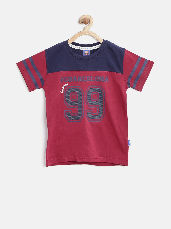 7b2e668e505 Buy Barcelona Boys Maroon Printed T Shirt - Tshirts for Boys 1360457 ...