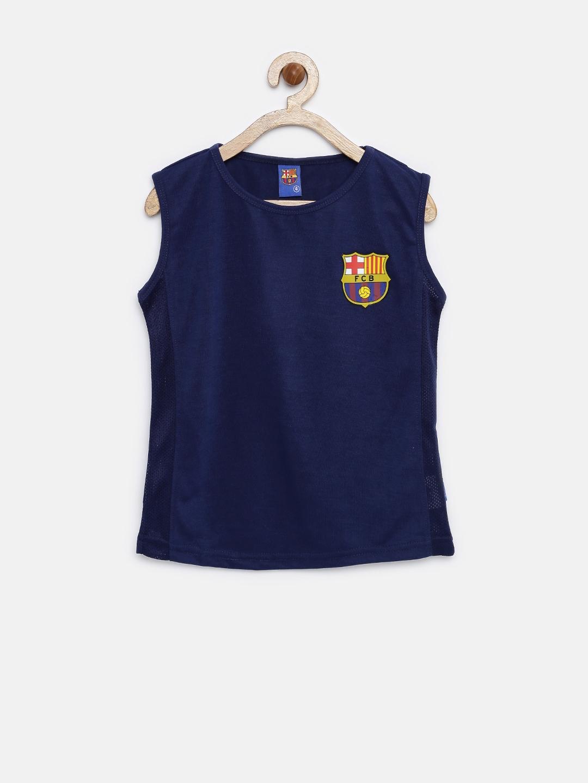 04f76485b Buy FC Barcelona Boys Navy Sleeveless T Shirt - Tshirts for Boys ...