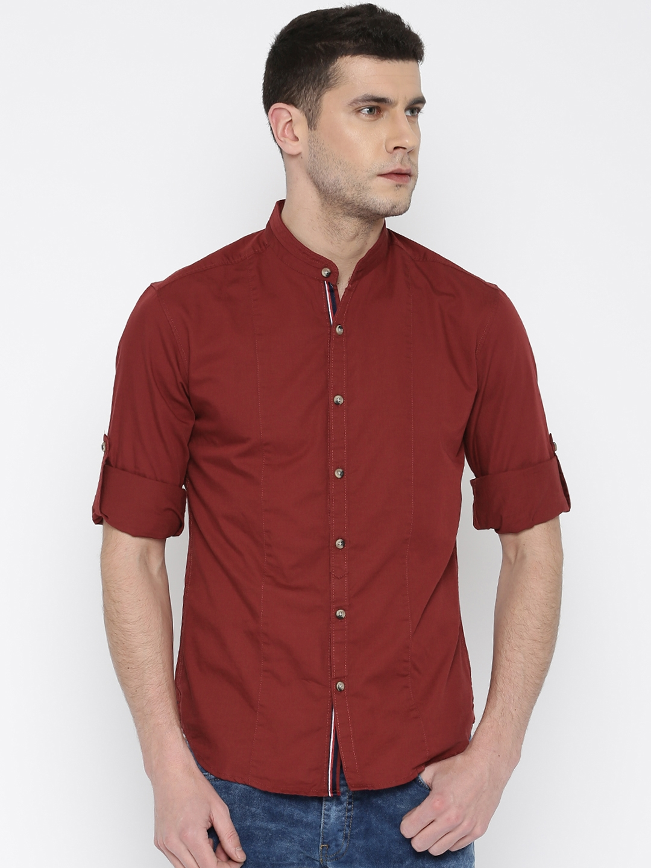 Locomotive Red Slim Casual Shirt