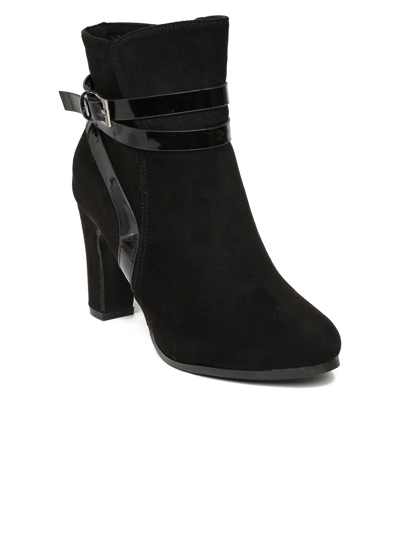 57ee1e2d5b33e Buy Inc.5 Women Black Heeled Boots - Heels for Women 1362338