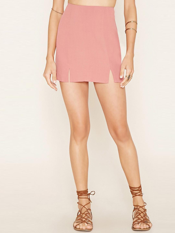 9cfcec7228cd Buy FOREVER 21 Dusty Pink A Line Mini Skirt - Skirts for Women ...