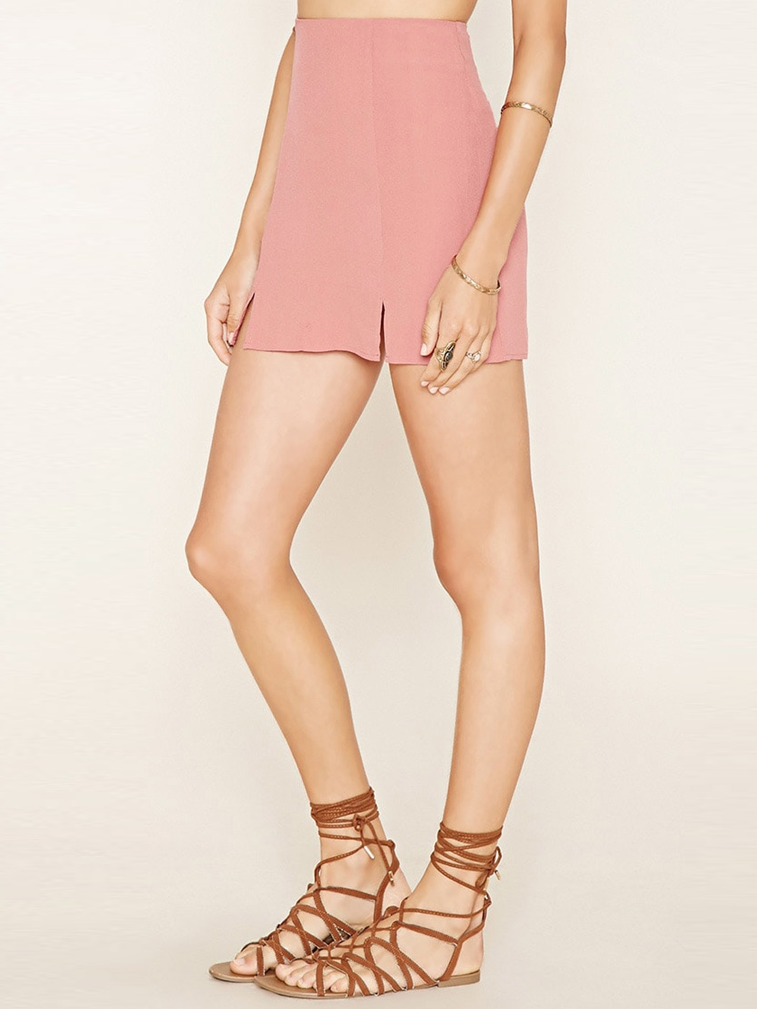 5e4a557b8 Buy FOREVER 21 Dusty Pink A Line Mini Skirt - Skirts for Women ...