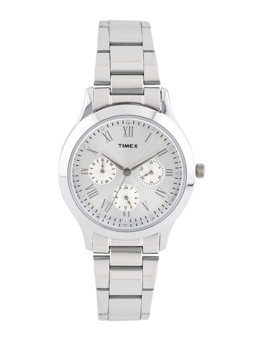 Timex Women Silver Toned Dial Watch TW000Q806