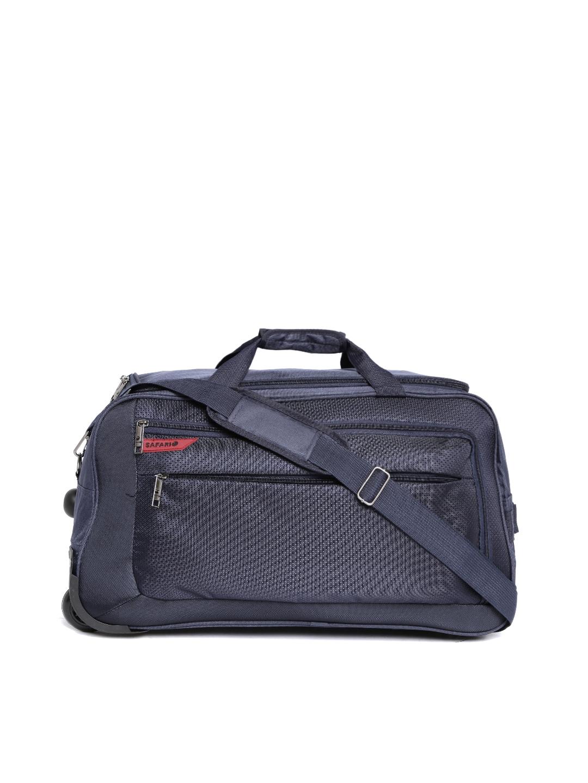 033f67cd1f Buy Safari Unisex Navy Blaze Medium Trolley Duffel Bag - Trolley Bag ...