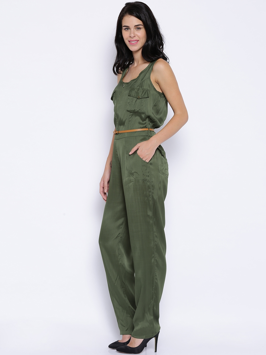 8fbb9f097854 Buy ONLY Olive Green Jumpsuit - Jumpsuit for Women 1376716
