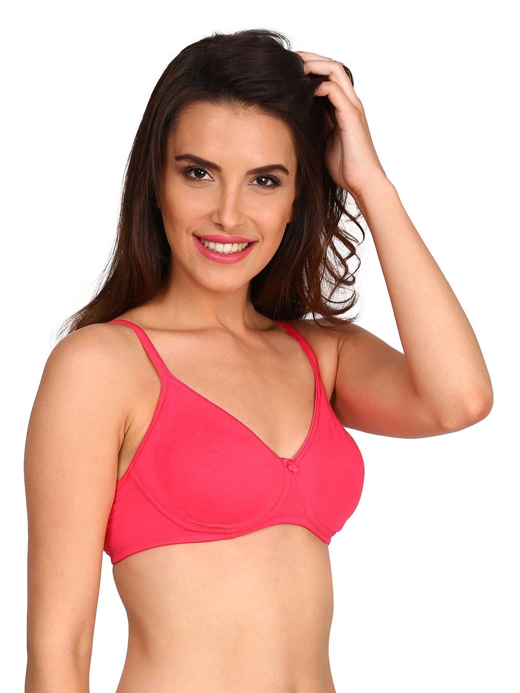 7069631c2a63b Buy Jockey Pink Medium Coverage Seamless Shaper Bra 1722 - Bra for ...