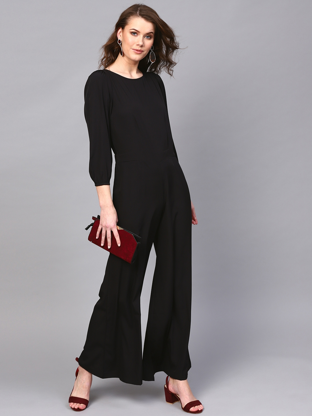 2e5f82763f7 Buy SASSAFRAS Black Solid Basic Jumpsuit - Jumpsuit for Women ...