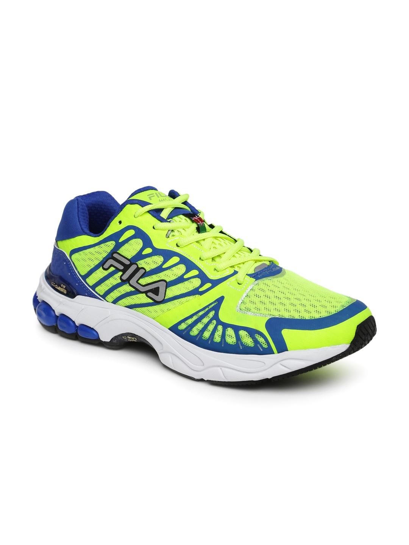 Buy Fila Men Fluorescent Green Blue Masai Running Shoes Sports