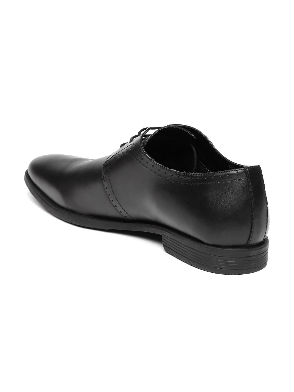 02508c3f93 Buy Van Heusen Men Black Leather Derby Formal Shoes - Formal Shoes ...