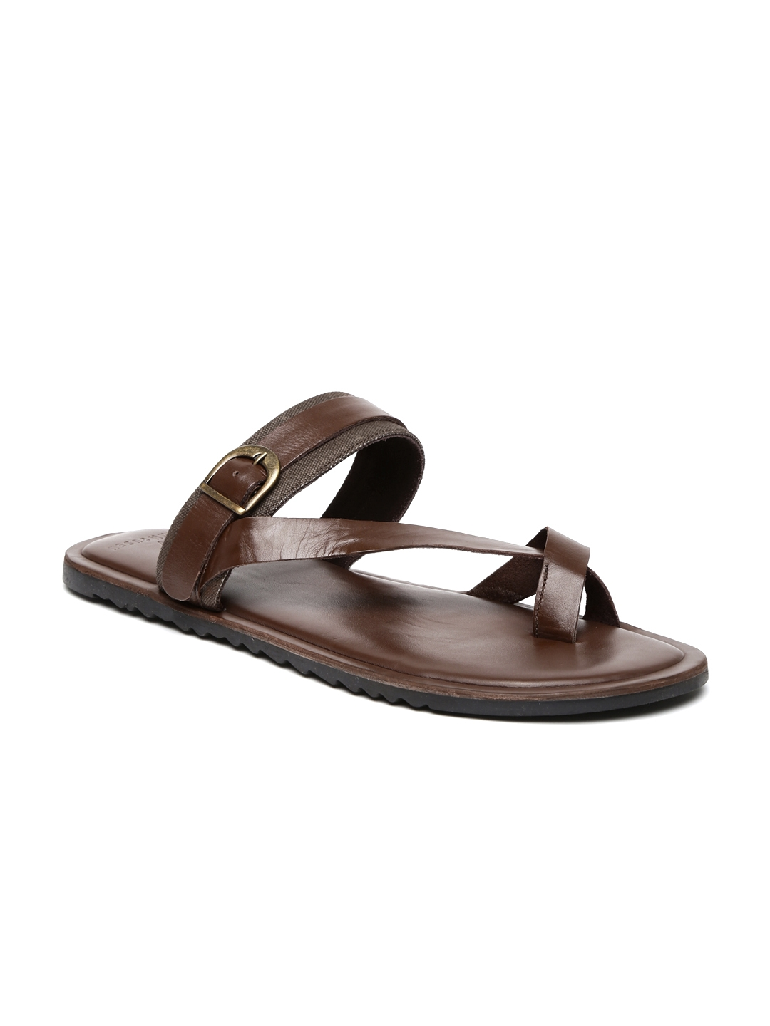 Buy Van Heusen Men Brown Leather Sandals - Sandals for Men 1378679 ... dfd53e12b