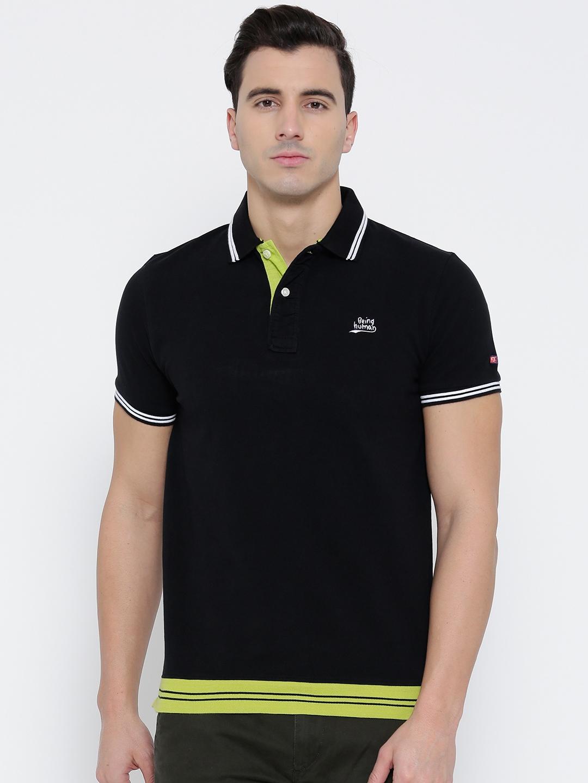 fde21268 Buy Being Human Clothing Black Polo T Shirt - Tshirts for Men ...