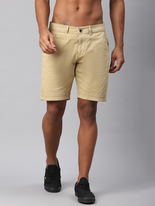 Roadster Men Beige Solid Regular Fit Chino Shorts