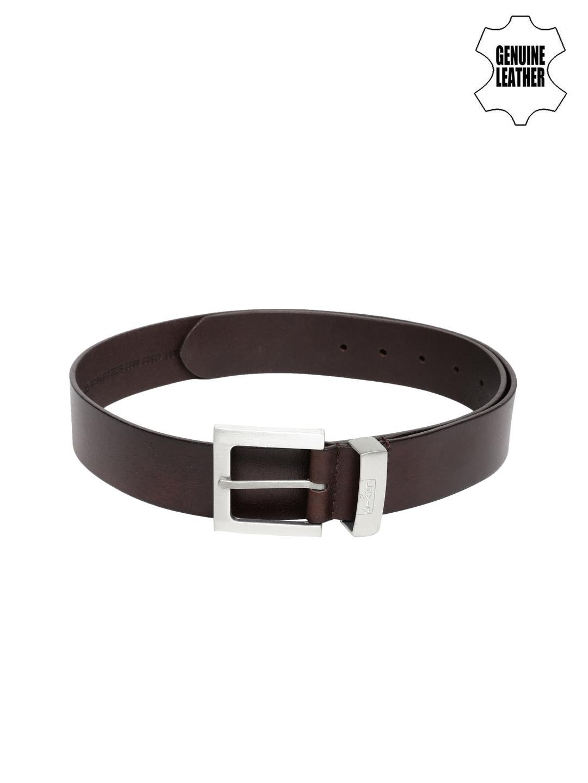 Levi's Men Dark Brown Leather Belt