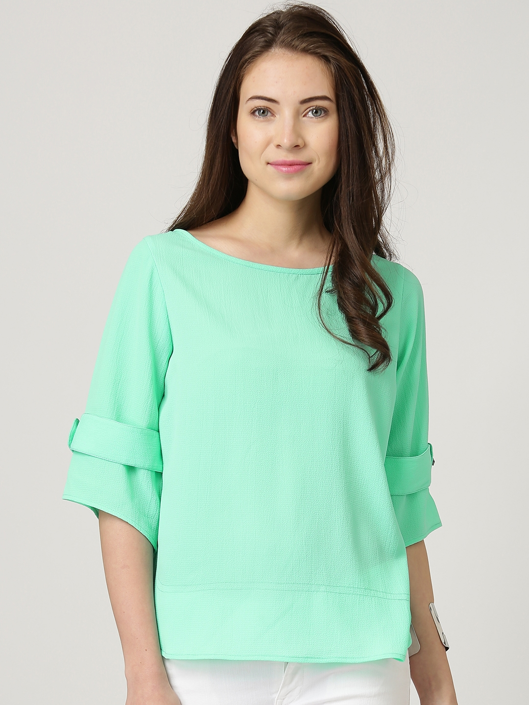eec77e34590 Buy Marie Claire Mint Green Textured Top - Tops for Women 1382673 ...