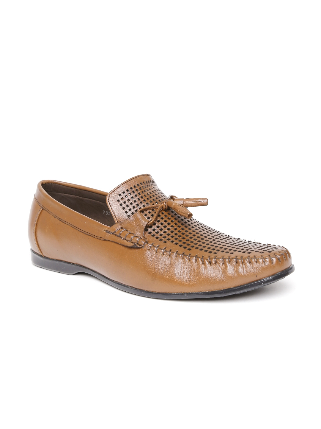 a3445f72869 Buy San Frissco Men Tan Brown Cut Out Leather Loafers - Casual Shoes ...