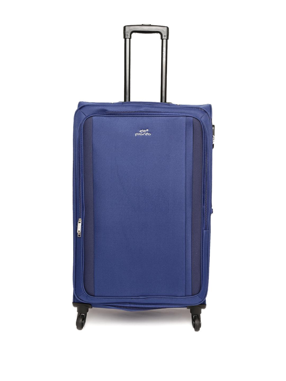Pronto Unisex Blue Rome 4 W Spinner 78 Trolley Bag