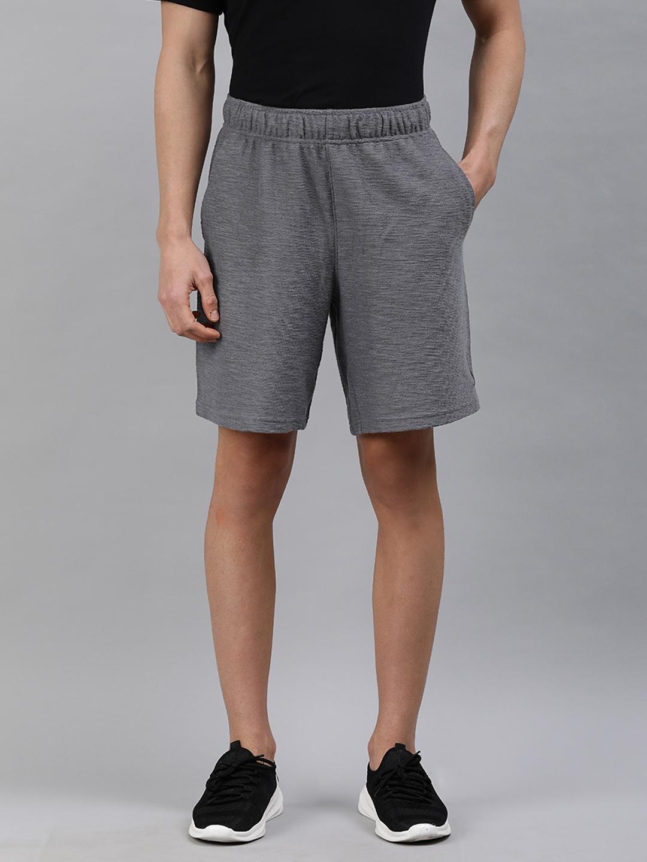 Nike Men Grey Self Design Regular Fit Regular Shorts