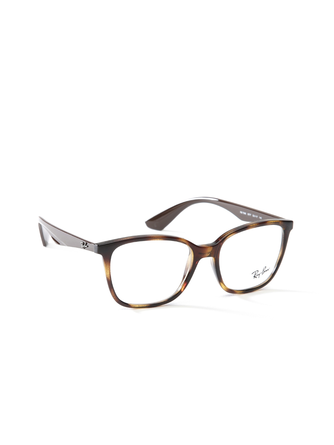 Ray Ban Men Brown Animal Print Square Frames 0rx7066557752 For 1389901 Myntra
