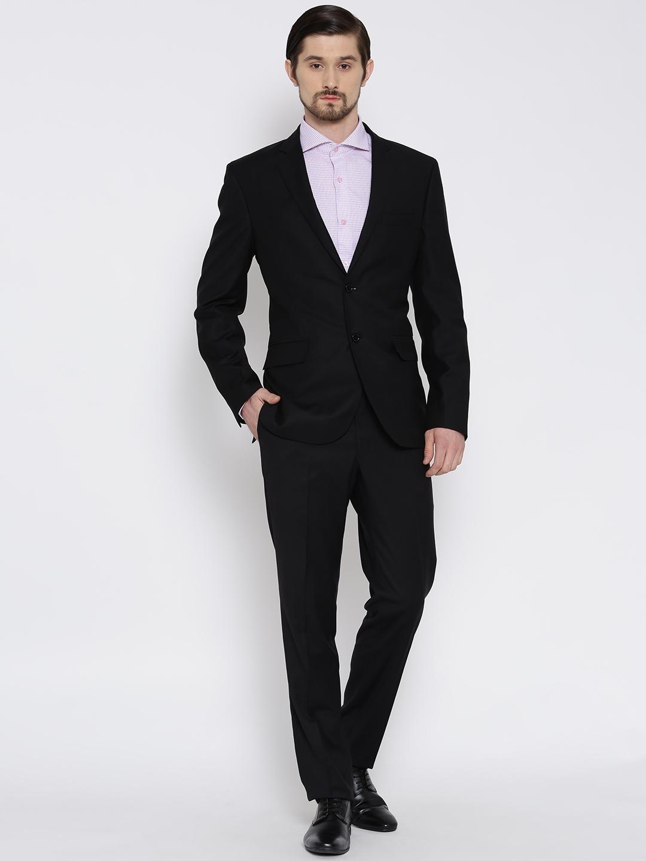 Brahaan Blue Tag Black Single Breasted Formal Suit