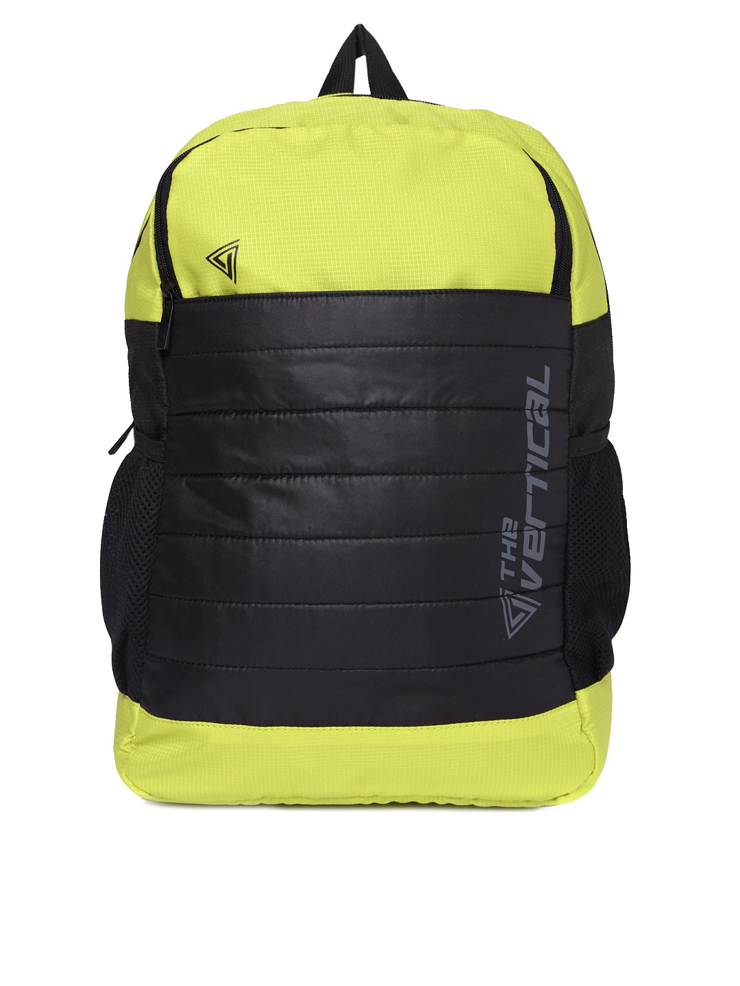 THe VerTicaL Unisex Lime Green   Black Laptop Backpack