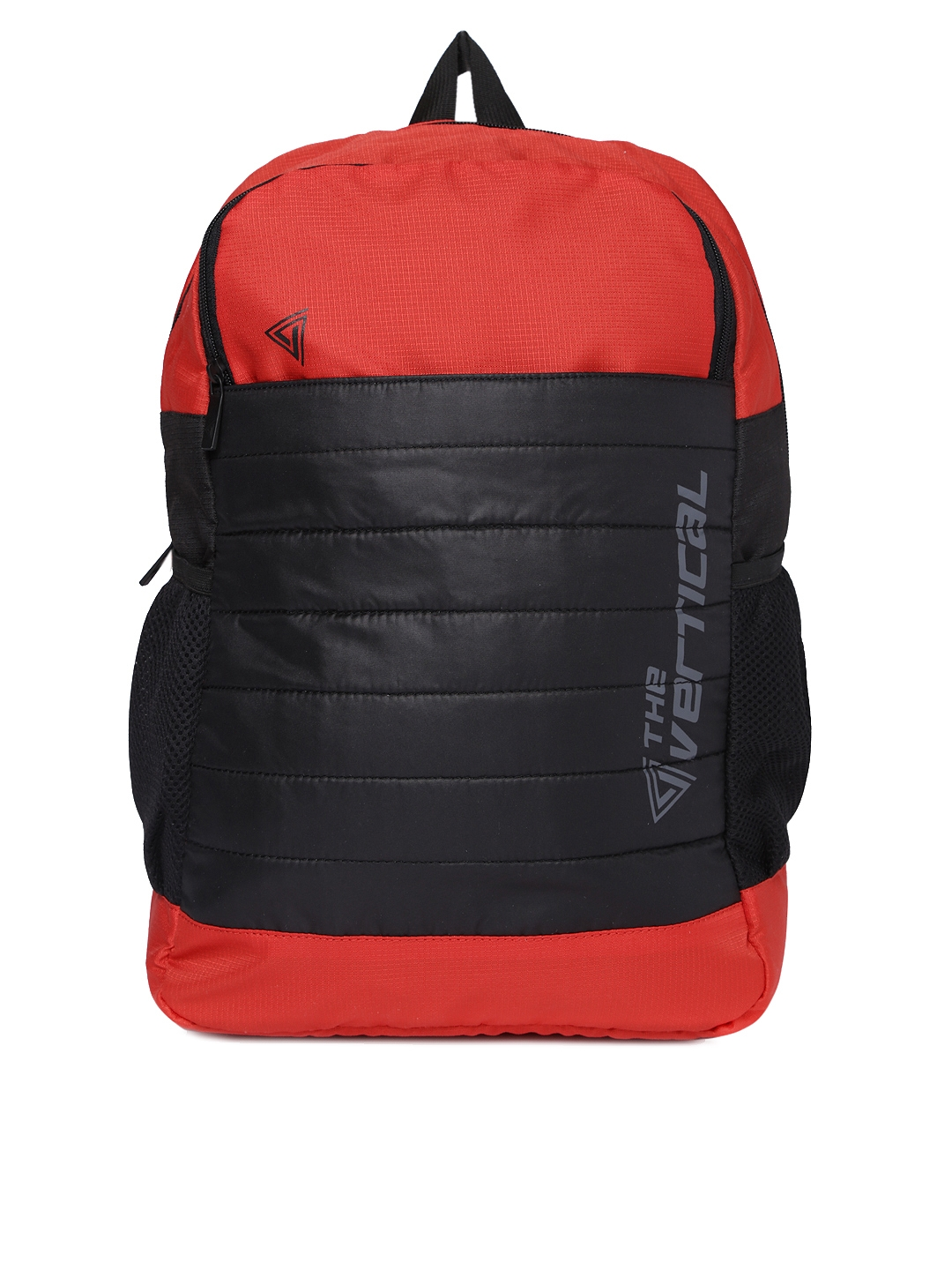 THe VerTicaL Unisex Red   Black Laptop Backpack