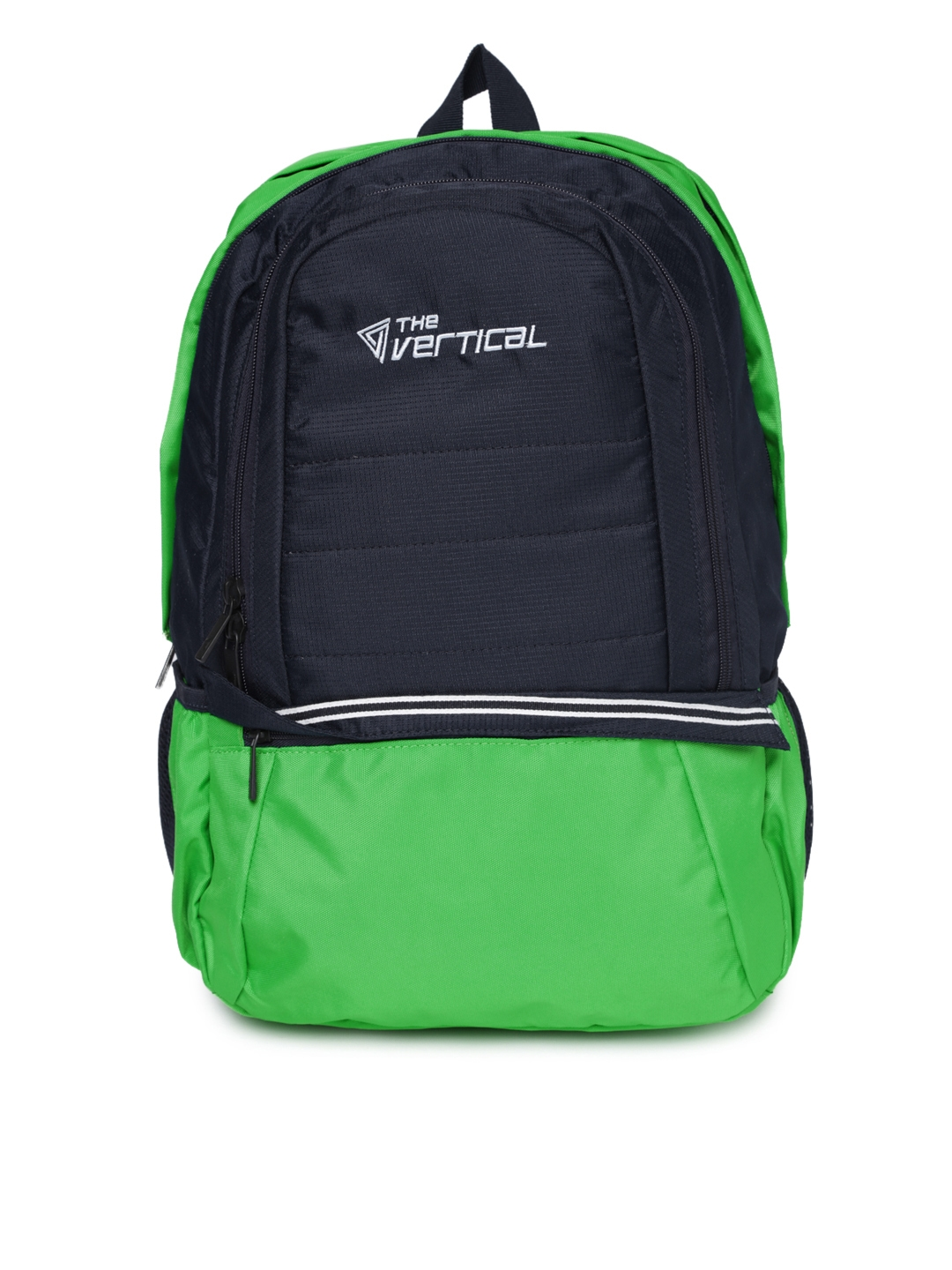 THe VerTicaL Unisex Navy   Green Laptop Backpack