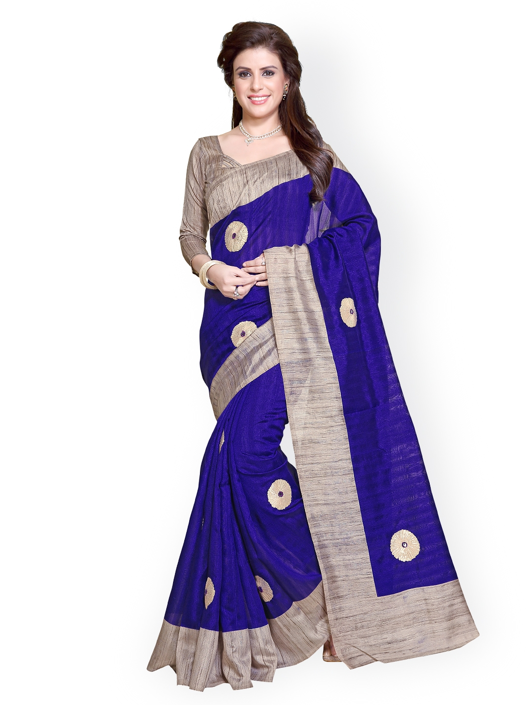 d5ec09027d963 Buy Mirchi Fashion Blue Art Silk Saree - Sarees for Women 1398488 ...