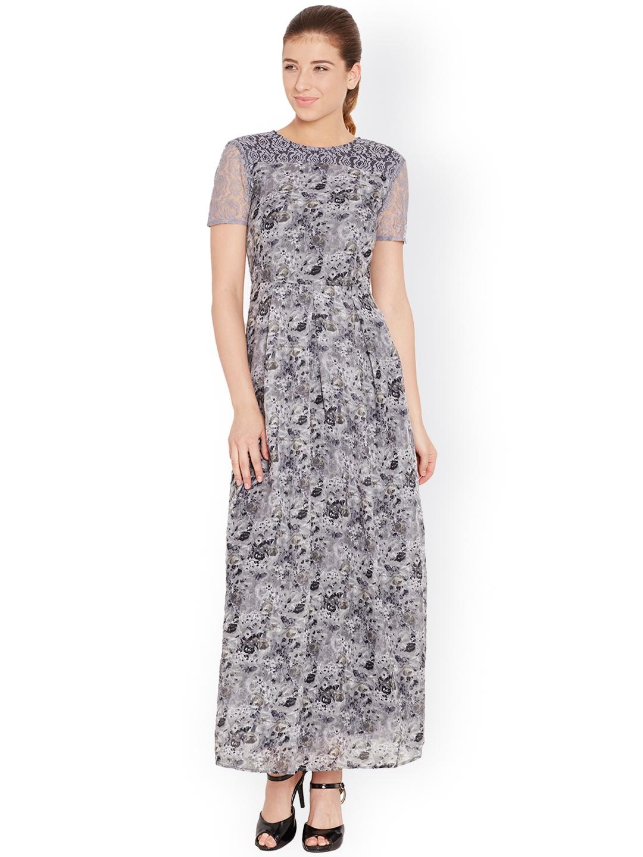 ccc4a41f9 Buy The Vanca Grey Printed Maxi Dress - Dresses for Women 1398630 ...