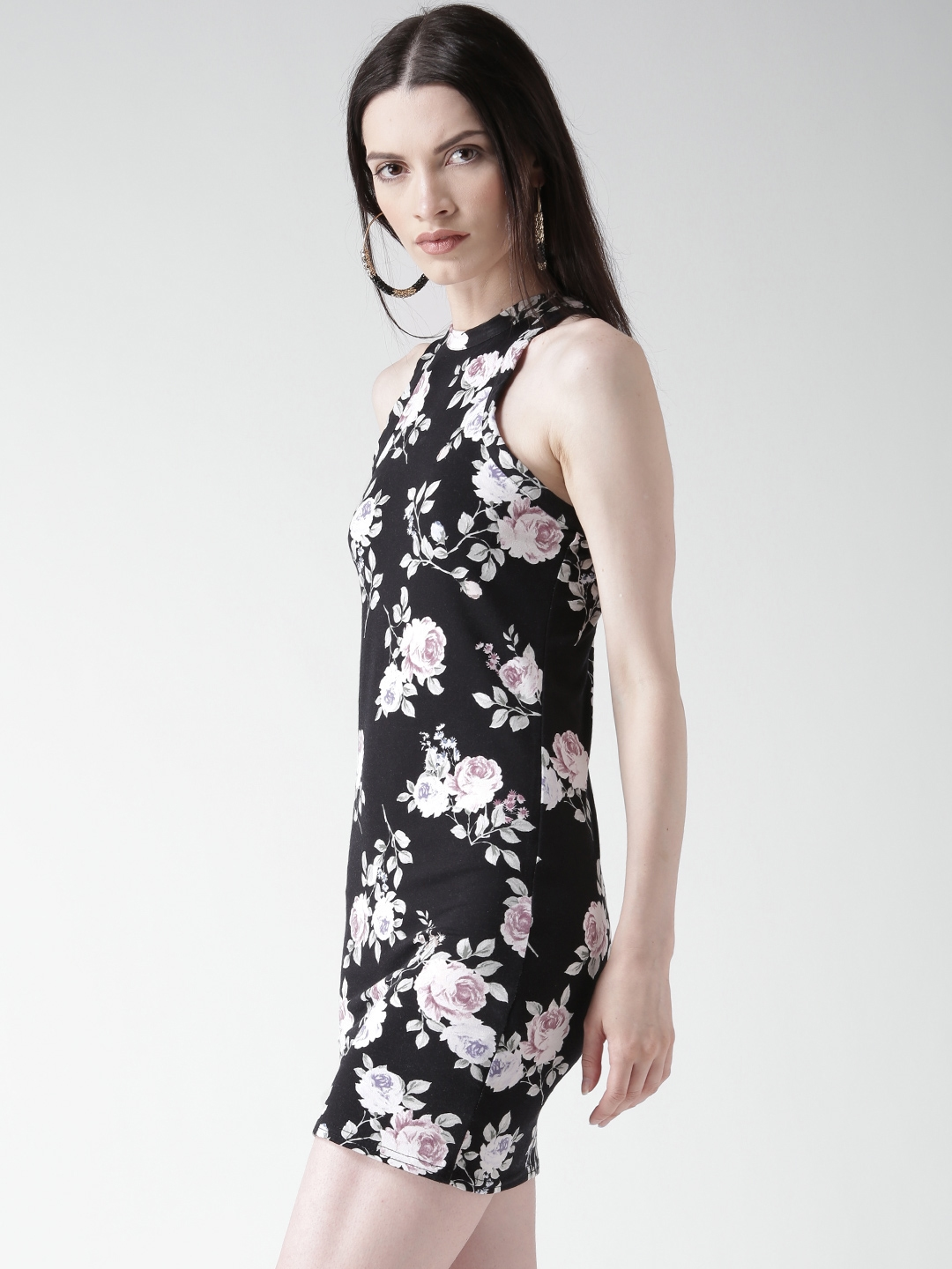 6411bf479dcaf Buy New Look Black Floral Print Bodycon Dress - Dresses for Women ...