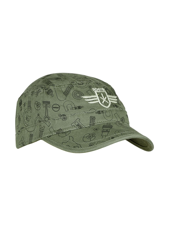 87a100a5c7bba Buy RDSTR Men Olive Green Printed Cap - Caps for Men 1398988