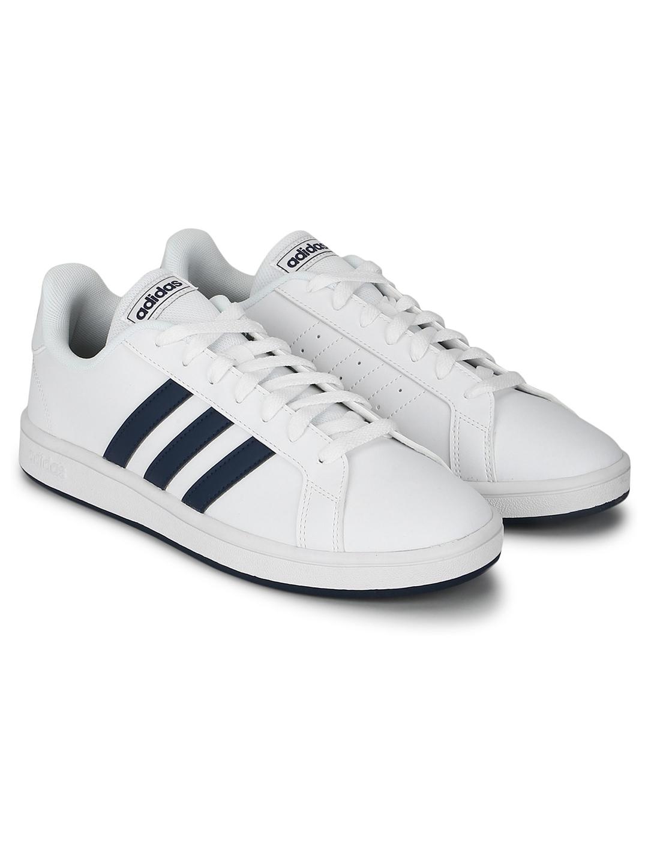 ADIDAS Men GRAND COURT White Tennis Shoes