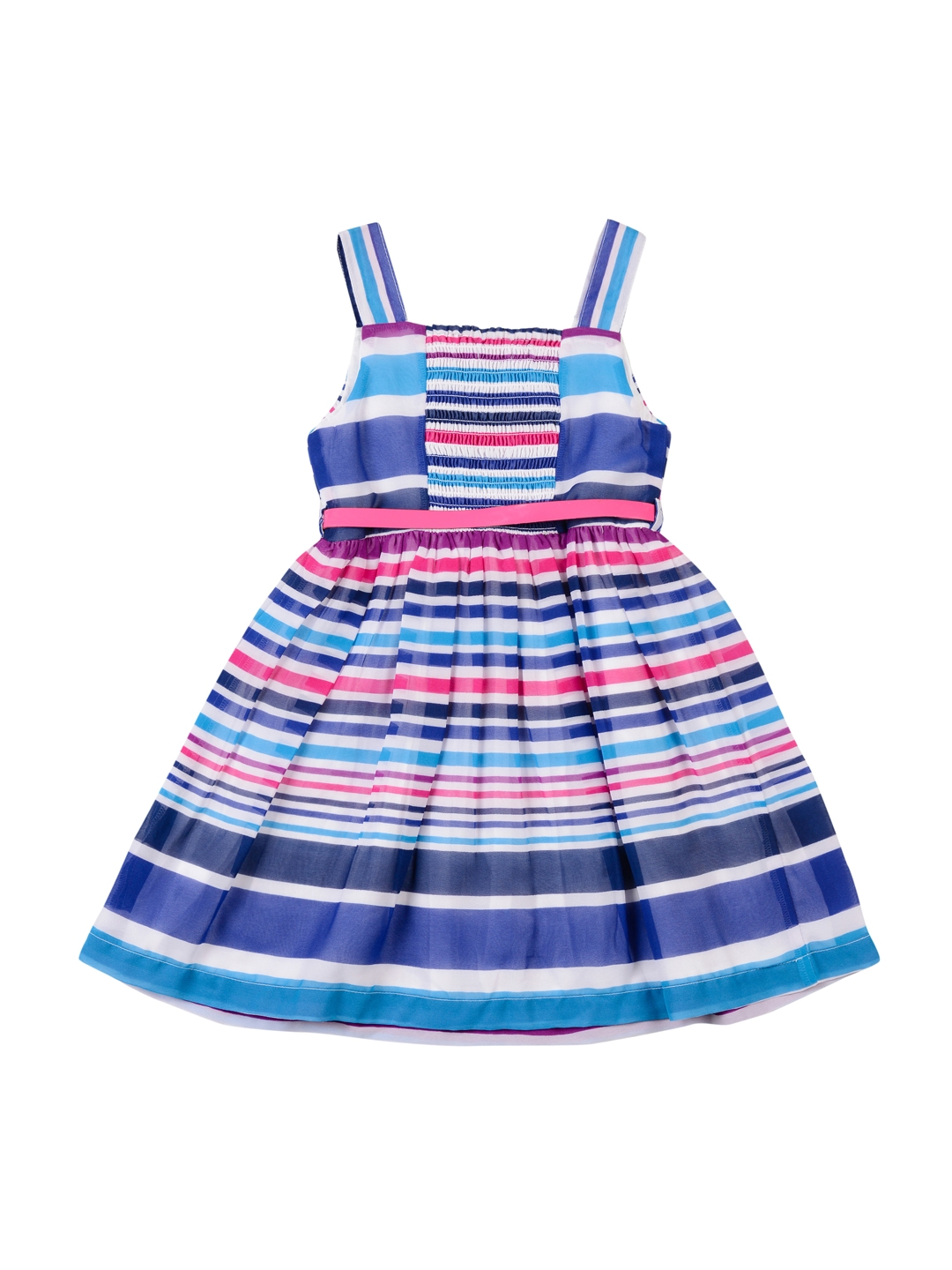 3e074a7a5 Buy Nauti Nati Girls Blue   White Striped Fit   Flare Dress ...
