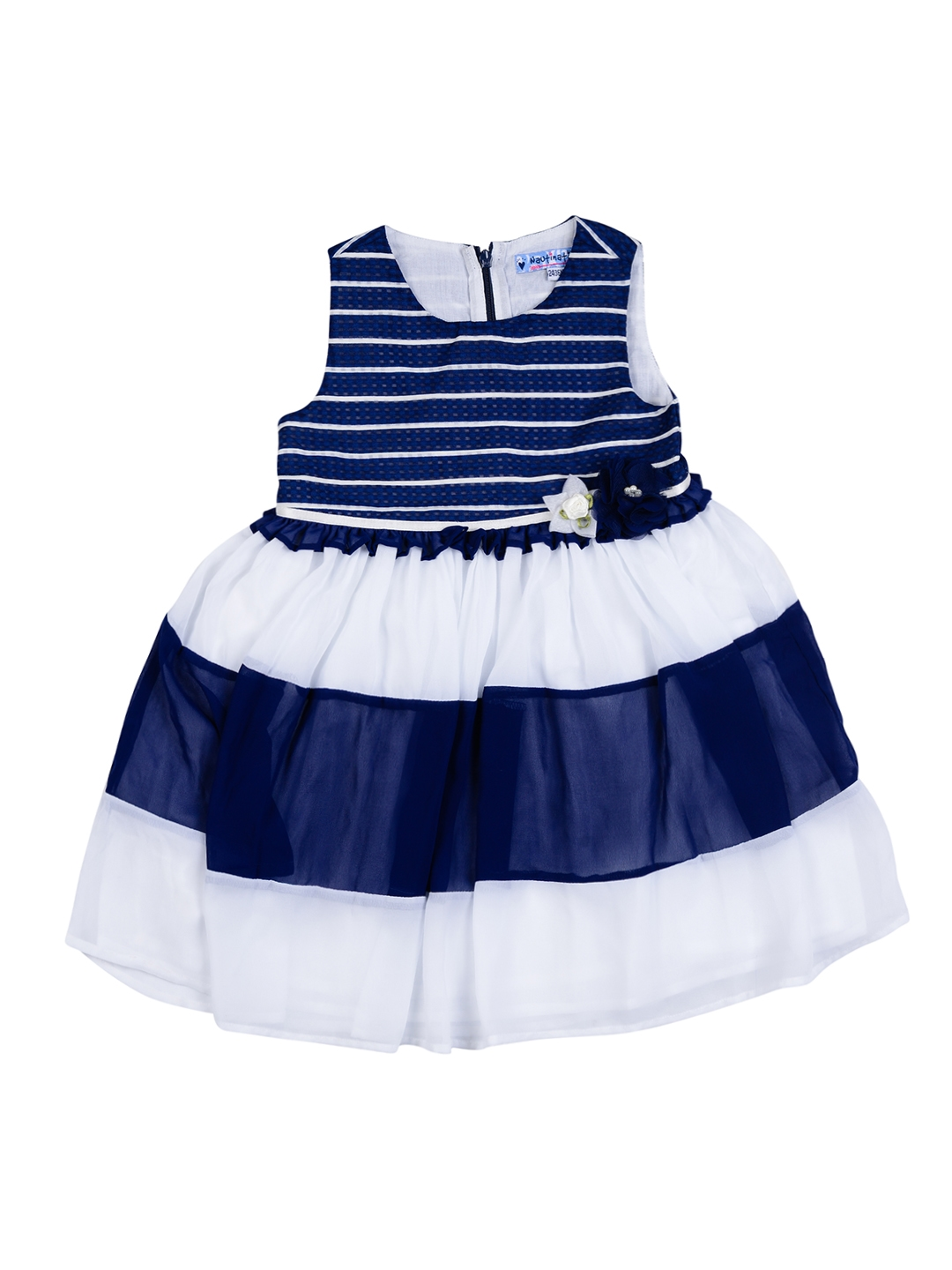 ddb41794d Buy Nauti Nati Girls Navy   White Striped Fit   Flare Dress ...